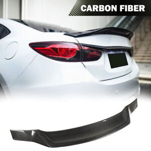 Fits Mazda 6 Atenza Sedan 2014 2019 Rear Spoiler Trunk Wiing Carbon Fiber Refit