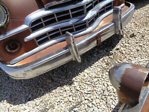 1949 Dodge Front Bumper With Guards Coronet Wayfarer Meadowbrook