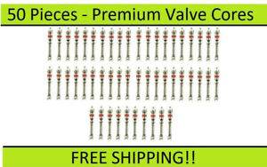 Bulk fifty 50 Premium Long Valve Stem Cores Used With Tire Balancing Beads