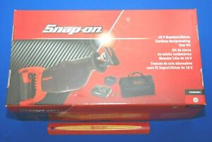 New Snap On 18v Monsterlithium Cordless Reciprocating Saw Kit W Ctb8187 Battery