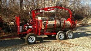 Metavic 1050a Log Loader With Trailer Rotator Grapple Winch and Outrigger s