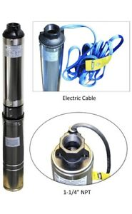 Deep Well Submersible Pump Ma0460x 9a do 230v 3 5 220ft Max 9 Stages 1hp