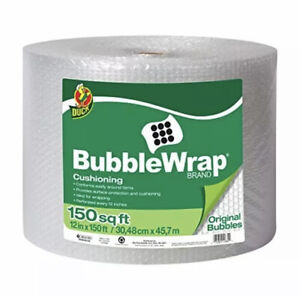 Duck 3 16 Bubble Wrap Cushioning 12 In X 150 Ft Roll Clear