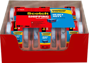 Scotch Heavy Duty Shipping Packaging Tape 6rolls 1 88 Inches X 800 Free Shipping