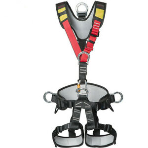 Full Body Safety Belt Tree Climbing Saddle Rock Climbing Aerial Work Harness Us