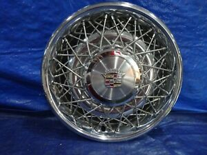 Nos 1980 1984 Cadillac Deville Fleetwood 15 Wire Spoke Hubcap Wheel Cover New