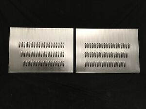 Hood Side Louver Panel Set 34 X 24 Louvered Pair Vent Engine Cooling Insert Scta