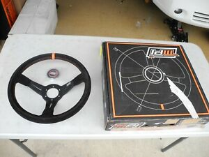 New Mpi Suede Deep Dish Steering Wheel 350mm Max Papis Sparco Momo Omp