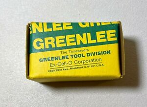 Greenlee 730 Round Metal Punch Set 500 2412 4 Size 13 16 New In Box