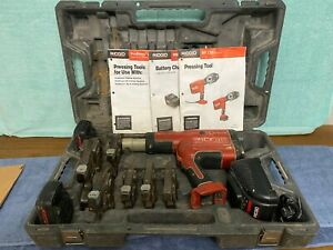 Ridgid Pro Press Crimper Set Model Rp330 b With 6 Jaws 1 2 Through 2