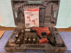 Ridgid Corded Pro Press Crimper Set Model Rp330 With 6 Jaws 1 2 Through 2