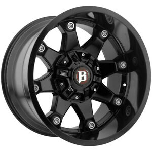 4 20 Inch Ballistic 581 Beast 20x10 6x135 6x5 5 24mm Gloss Black Wheels Rims