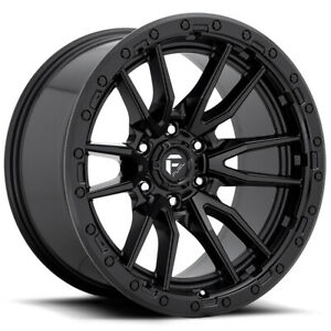 4 fuel D679 Rebel 17x9 6x135 12mm Matte Black Wheels Rims 17 Inch