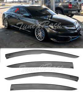 Jdm Mugen Tape On Style Visors For 13 Up Acura Ilx Side Vent Window Rain Guards