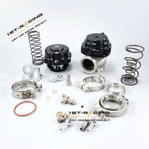 Black 50 Mm Bov 44 Mm Wastegate Combo Turbine Blow Off Valve Spring Flange