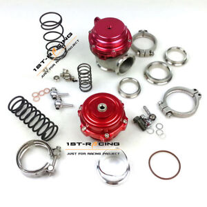 Red 50 Mm Bov 44 Mm Wastegate Combo Turbine Blow Off Valve Spring Flange