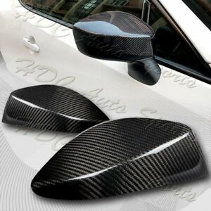 For 2013 2020 Subaru Brz Scion Fr S Gt86 Real Carbon Fiber Side Mirror Cover Cap
