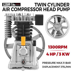 Air Compressor Pump 3hp Aluminum 1300 min 160psi Single Stage 2 Cylinder 12cfm