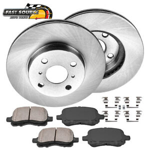 For 1998 1999 2000 2001 2002 Toyota Corolla Chevy Front Rotors Ceramic Pads