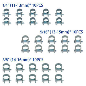 30 Pcs 1 4 5 16 3 8 Fuel Injection Gas Line Hose Clamps Clip Pipe Clamp To Us