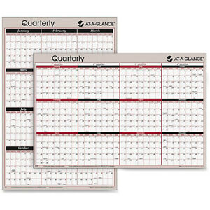 At a glance 2 sided Wet erase Yearly Wall Calendar