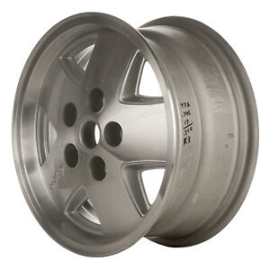 Oem Used 15x7 Alloy Wheel Rim Flat Silver Painted With Machined Face 1320