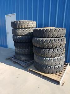 Used Set Of 11 Tire And Wheel Military 900 20 Goodyear Xtra Grip