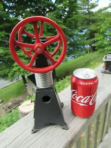 Vintage Original Dual Fly Wheel Hot Air Engine Sterling Flame Licker Eater