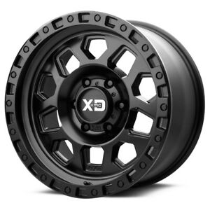 5 xd Series Xd132 Rg2 17x9 5x5 12mm Satin Black Wheels Rims 17 Inch Jk Jl