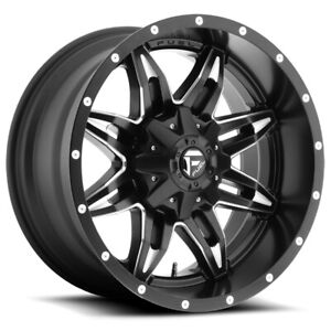 4 Fuel D567 Lethal 15x10 6x5 5 43mm Black Milled Wheels Rims 15 Inch
