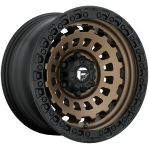 4 Fuel D634 Zephyr 17x9 5x5 12mm Bronze Wheels Rims 17 Inch
