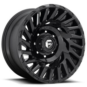 5 Fuel D682 Cyclone 18x9 5x5 12mm Gloss Black Wheels Rims 18 Inch Jeep Jk Jl