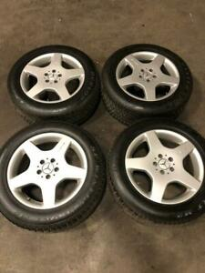 Set Of4 Oem Mercedes W163 Ml500 Ml55 Amg 9 X R18 18 Wheel Rim Rims Tires Set