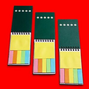 3 Pack Mini Spiral Notebooks Sticky Notes College Ruled Wirebound Notepads 3 X 5