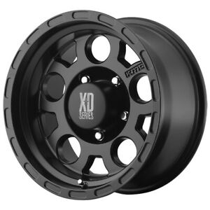 4 xd Series Xd122 Enduro 17x9 5x5 6mm Matte Black Wheels Rims 17 Inch