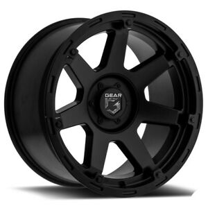 4 Gear Alloy 753sb Barricade 17x9 8x6 5 18mm Satin Black Wheels Rims 17 Inch