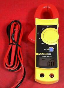 Fluke 322 20130750 Digital Ac Clamp Meter With Leads