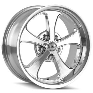 Staggered Ridler 645 Front 18x8 rear 18x9 5 5x4 5 0mm Chrome Wheels Rims