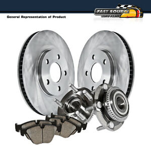 For 1999 2000 2004 Mustang Cobra Mach 1 Bullit Front Rotors Hub Bearings Pads