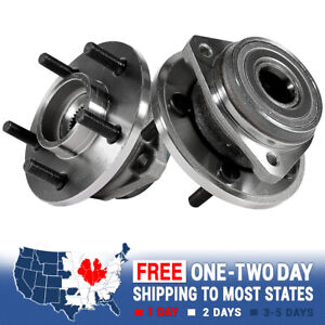 2 Front Wheel Hub Bearing Assembly Pair For Jeep Cherokee Wrangler Xj Tj 2wd 4wd