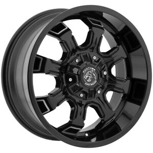 4 18 Inch Panther Offroad 579 18x9 6x135 6x5 5 12mm Black machined Wheels Rims