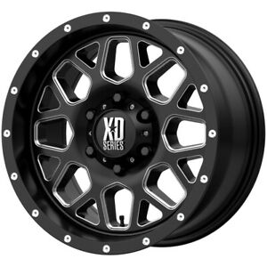 4 Xd Series Xd820 Grenade 17x8 5 5x5 0mm Black Milled Wheels Rims 17 Inch