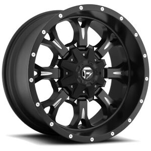 5 Fuel D517 Krank 17x9 5x5 5x5 5 12 Black Milled Wheels Rims 17 Inch Jeep Jk Jl