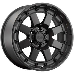 4 Black Rhino Cleghorn 17x8 5 5x5 18mm Matte Black Wheels Rims 17 Inch