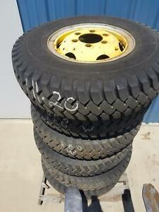 Used Set Of 6 Military 1100 20 Cl946 Tire On Wheel
