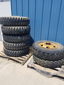 Used Set Of 7 Military 900 20 General Tire On Wheel
