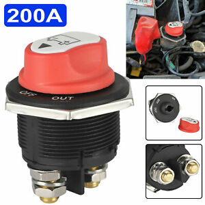 200a Battery Isolator Disconnect Cut Off Switch For Marine Car Truck Boat Rv Atv