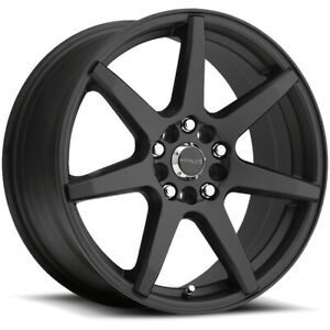 4 new 17 Inch Raceline 131b Evo 17x7 5 5x108 5x114 3 20mm Black Wheels Rims
