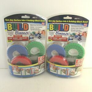 Build Bonanza for LEGO Peel Stick 12 ft red green blue grey tape lot of 2 $13.46