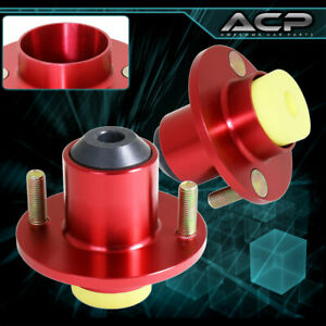 For 88 00 Civic Integra Red Suspension Shocks Strut Tower Top Hat Bushing Mounts